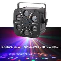 Moonflower RGBWA Single Color Beam Effect SDM RGB Strobe Effect 3in1 Led Six Eye Stage Lights