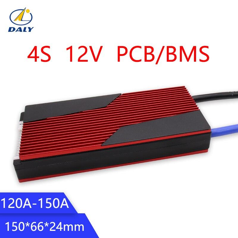 Fábrica Hot Sale 12 Daly V LiFePO4 BMS 4S 120A/150A 14.8V 18650 Bateria Packs BMS Placa de Proteção equilíbrio Circuitos Integrados