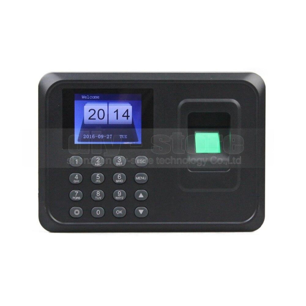 DIYSECUR USB biométrique d'empreintes digitales temps présence horloge enregistreur employé numérique électronique anglais lecteur vocal Machine