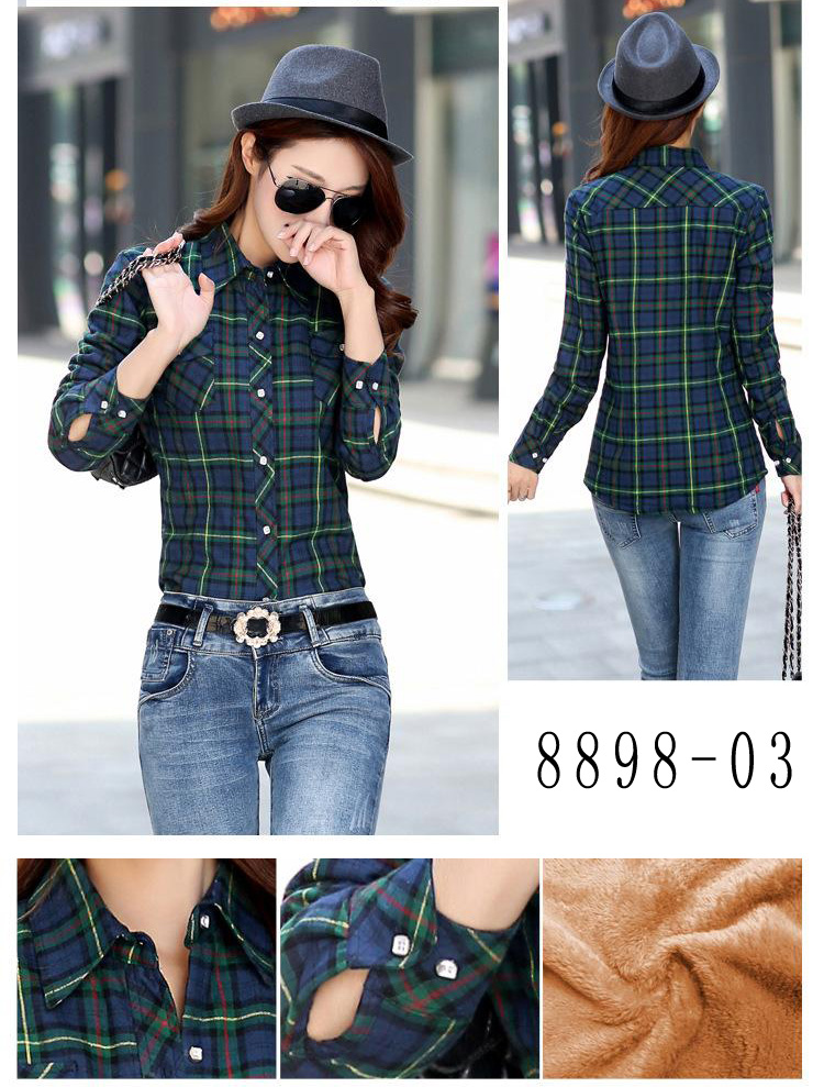 HTB1zRBFRVXXXXaeXFXXq6xXFXXXG - Velvet Thick Warm Women's Plaid Shirt Female Long Sleeve