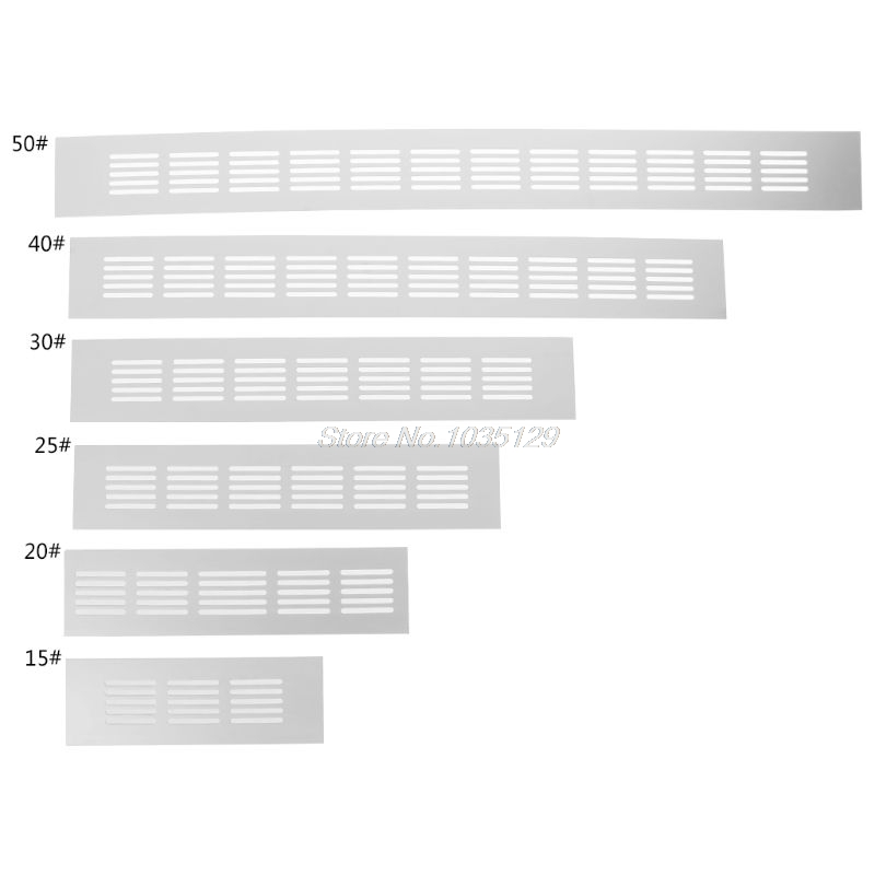 Алюминиевый сплав вентиляционное отверстие перфорированный лист веб-пластина вентиляционная решетка 15 см, 20 см, 25 см, 30 см, 40 см, 50 см MMP Dropship