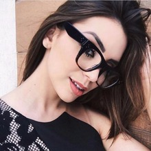 MARC WOMEN MEN Reading Optical Red Black Plain glass spectacles glasses Literature and art retro Plastic