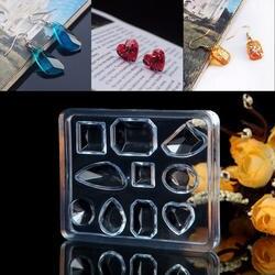 DIY ювелирные изделия инструмент геометрические ювелирные изделия Плесень кулон серьги силиконовая смола ремесло инструмент ручной работы
