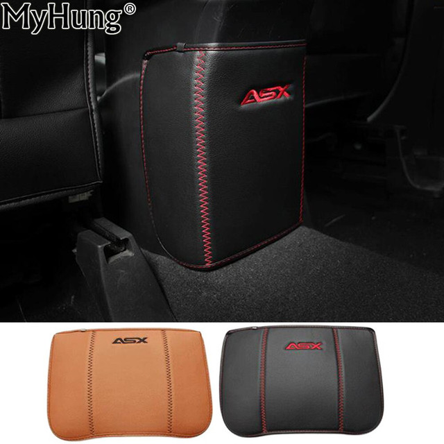 For Mitsubishi ASX Outlander 2013 To 2016 Car Armrests Kick Pad Rear Seat Protection Interior Decoration Car Styling Accessories