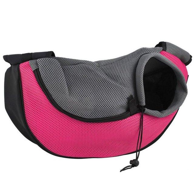 Pet Puppy Carrier Outdoor Travel Handbag Pouch Mesh Oxford Single Shoulder Bag Sling Mesh Comfort Travel Tote Shoulder Bag  2
