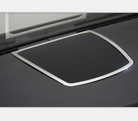 For BMW 5 Series F10 520 530 Steel Inside Decoration Accessories Middle Console Speaker Frame Trim 2011 2014