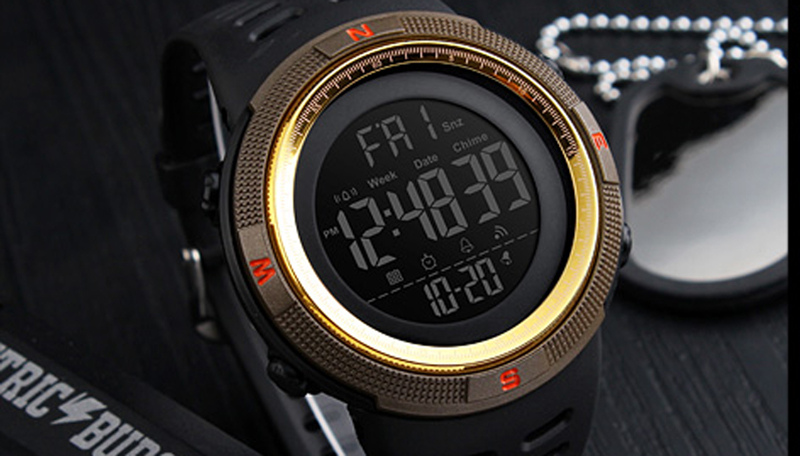 Skmei Luxury Brand Mens Sports Watches Dive 50m Digital LED Military Watch Men Fashion Casual Electronics Wristwatches Relojes 5