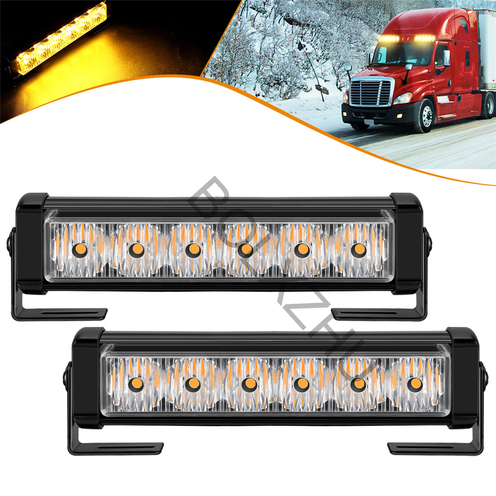 2x6 LED 7 Modes Car Emergency Strobe Lights Ambulance Police Vehicle Warning Flashing Lamp Bar Auto Traffic Signal Light 12V