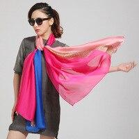 تشبه الحرير متفوقة الجودة التباين اللون الفاخرة المرأة وشاح شال يمكن استخدامها للملابس مطابقة