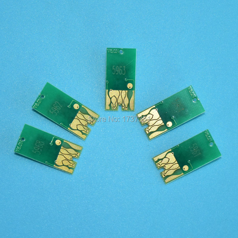 2 sets T5961-T5964/T5968 Resettable chip for Epson Stylus Pro 9700 refill ink cartridge