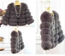 Elegant fur coat women all-matched fashion women's luxurious genuine fur coat thick warm leather jacket Top quality for lady