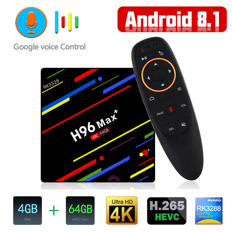 2018 Android 8.1 TV Box Rockchip RK3229 Voice Control Quad Core 5G WiFi 4K Smart Media Player With 2.4G Air Mouse Remote Control android smart tv box rockchip rk3229 quad core 2g 16g 4k streaming media player wifi dolamee d5 smart mini pc hebrew remote game
