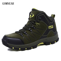 GOMNEAR New Spring Winter Men's Hiking Boots Breathable Antiskid Outdoor Leisure Tourism Sport Shoes Camping Trekking Sneakers