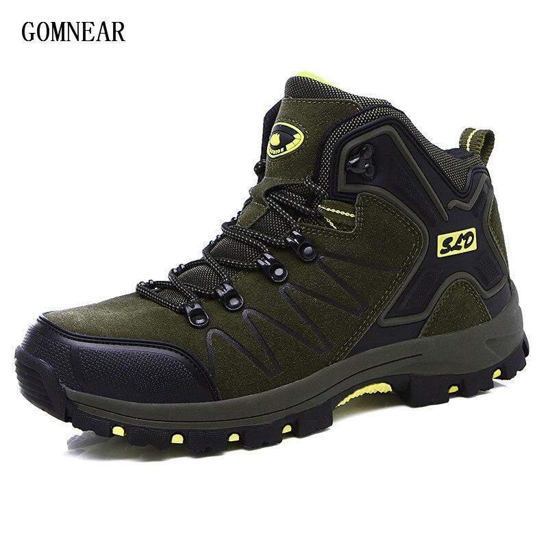 Gomnead/Новинка; сезон весна зима; мужские треккинговые ботинки; дышащие Нескользящие уличные ботинки для отдыха и туризма; спортивная обувь; п