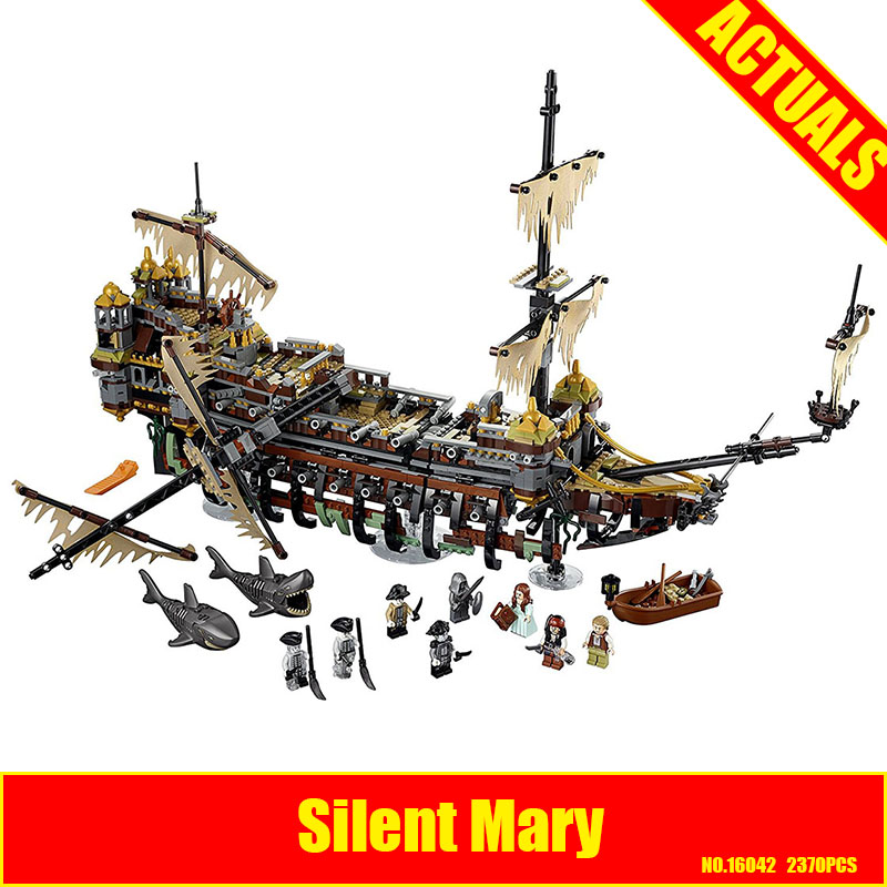 Lepin 16042 2344Pcs New Pirate Ship Series The Slient Mary Set Children Educational Building Blocks Bricks Toys Model Gift 71042 lepin 16042 pirate ship series the slient mary set legoingys 71042 children educational building blocks bricks toys gift