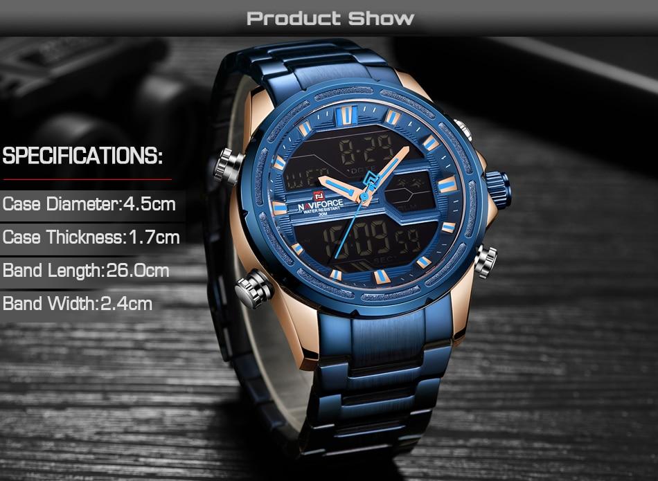 Top Luxury Brand NAVIFORCE Men Watches Military Waterproof LED Digital Sport Men's Clock Male Wrist Watch relogio masculino 5
