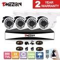 Tmezon 8ch 1080 h dvr 4 unids sistema de cámara de vigilancia de seguridad cctv 800tvl ir-cut de la visión nocturna impermeable al aire libre 1 tb 2 tb hd kit