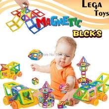 32 PCS Mini Magnétique Designer Construction set Éclairent Briques Magnétique Modèle et blocs de construction jouets Éducatifs pour enfants