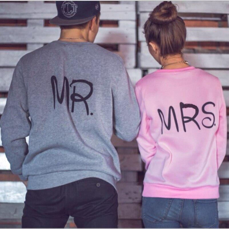 Letter Mr Mrs Hoodies Sweatshirts 2019 Women Casual Kawaii Harajuku Fashion Punk For Girls Clothing European Tops Korean