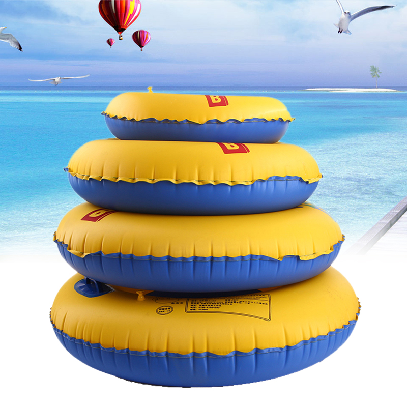 70 80 90cm Adult Children Summer Inflatable Double Color Durable Swim Ring Swimming Pool Boardwalk Circle For Swimming Floats