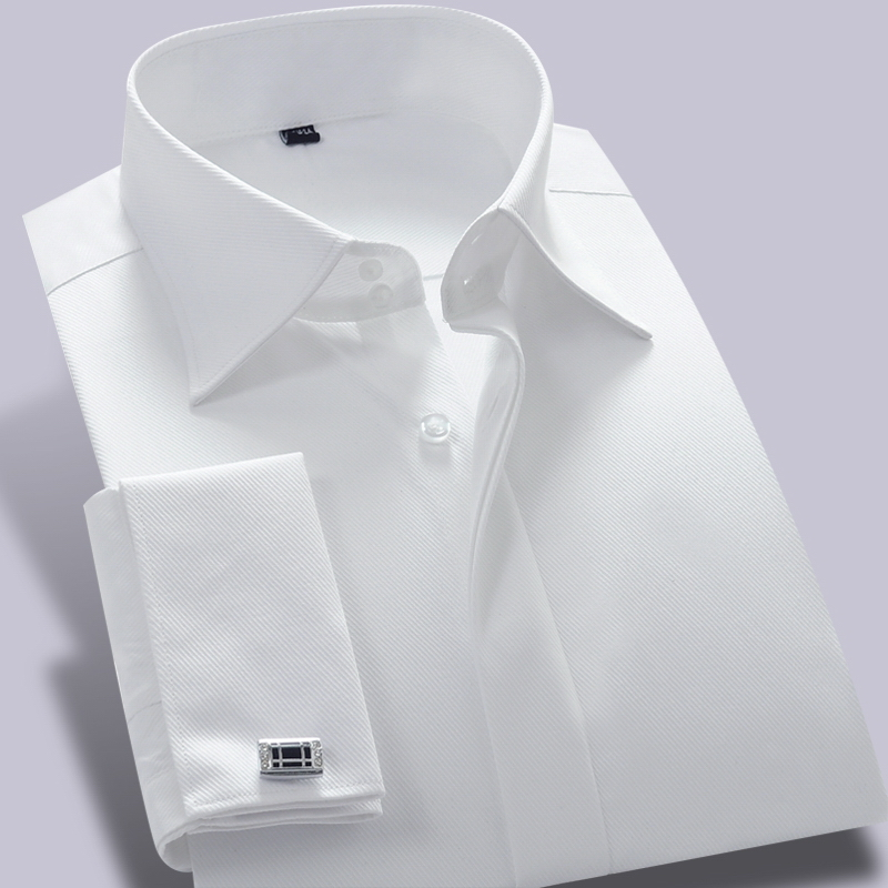 French cuff white dress shirt women