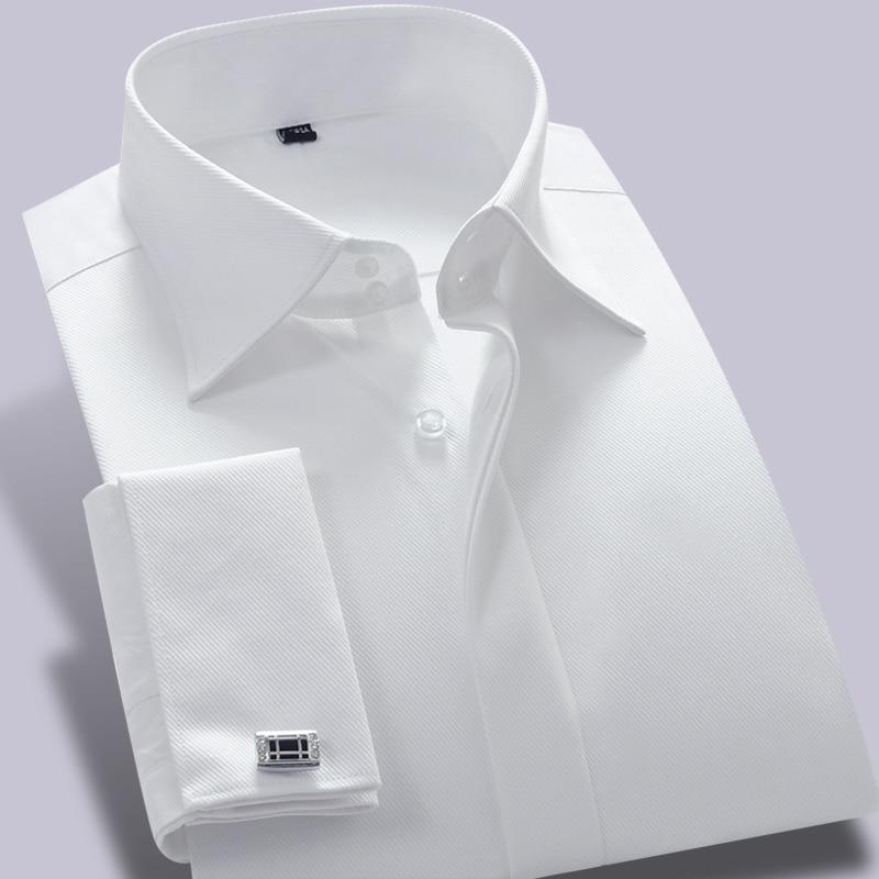 Aliexpress.com : Buy SAROUYA French Cuff Dress Shirt Long Sleeve ...