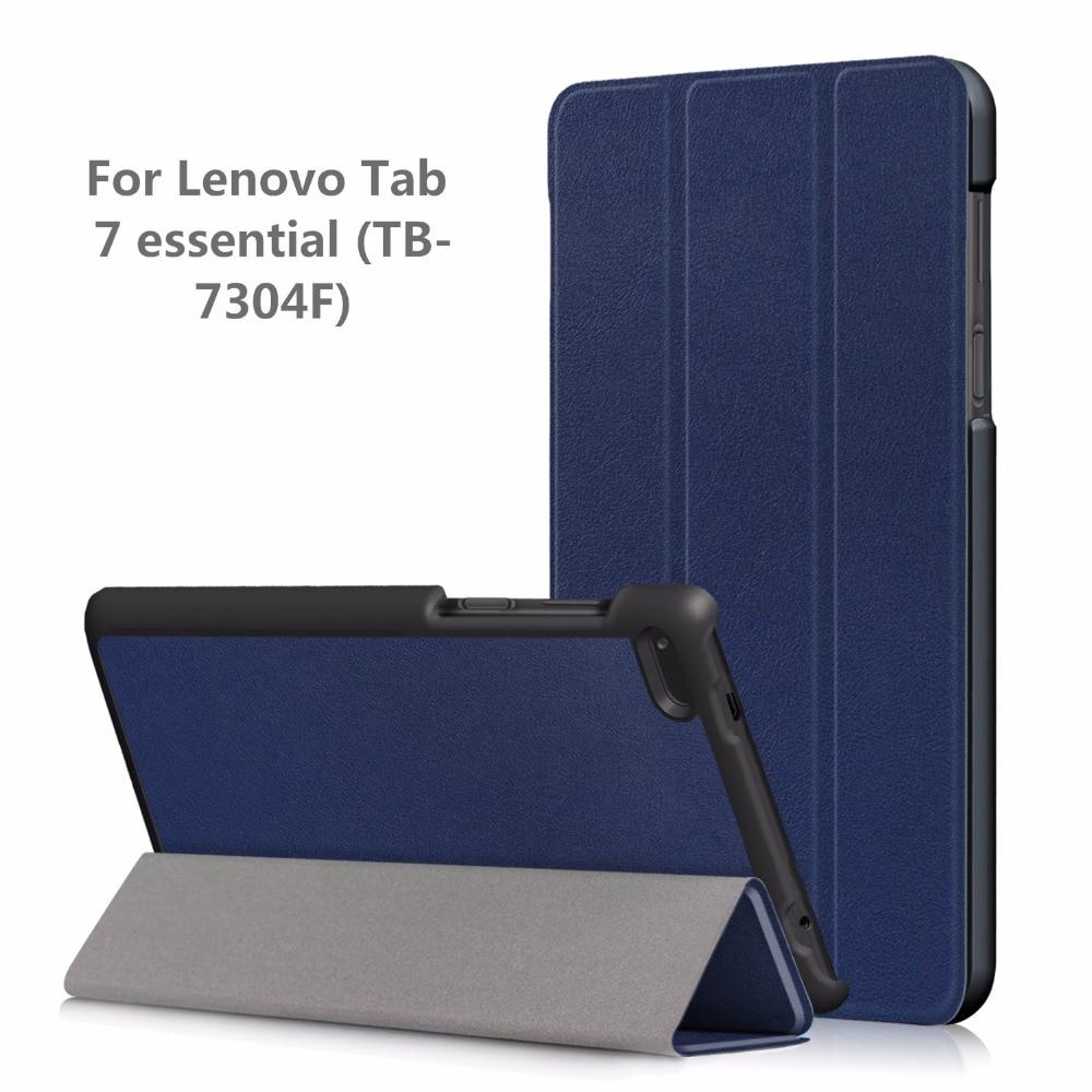 Folding Case For Lenovo Tab 7 Essential TB-7304F 7304I 7304X 2017 Smart Magnetic Cover For Lenovo Tab 7 Essential Case