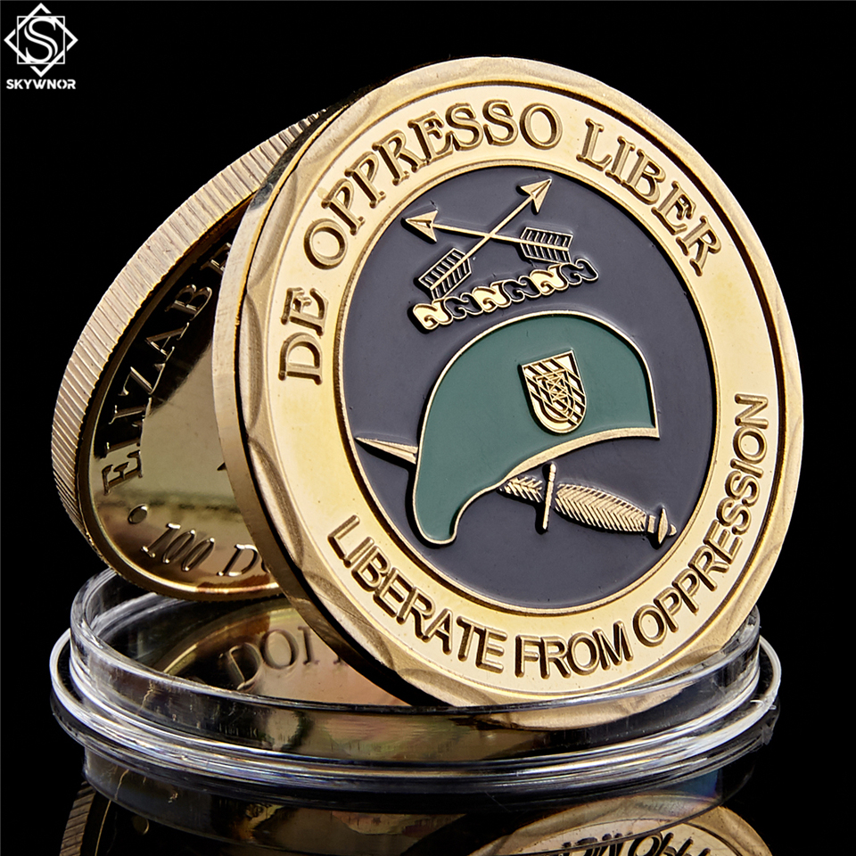 United States Army Special Forces Green Berets De Oppresso Liber Liberate From Oppression Challenge Collectible Coins