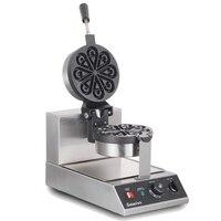 220 v elétrica comercial máquina de waffle máquina de waffle em forma de gota de água rotatable máquina de muffin pétala em forma de coração|waffle maker machine|electric waffle maker|waffle maker -