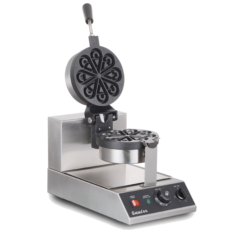 220V Commercial Electric Waffle Maker Machine Water Drop shaped Rotatable Waffle Muffin Machine Petal Heart Shaped Machine