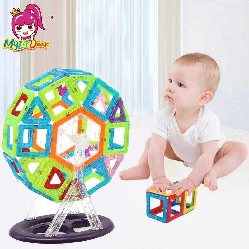 Mylitdear большой размер 116 шт. магнитные блоки магнитные дизайнерские конструкции 3D модели магнитные блоки Развивающие игрушки для детей