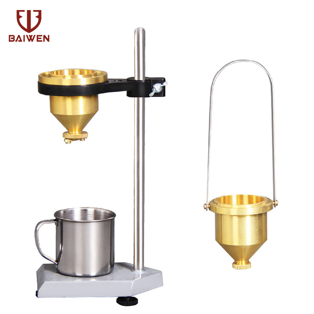 100ml Paint Viscosity Test Cup Viscometer Flow Cup Mixing Thinning Tool 4# Measuring Tool Golden