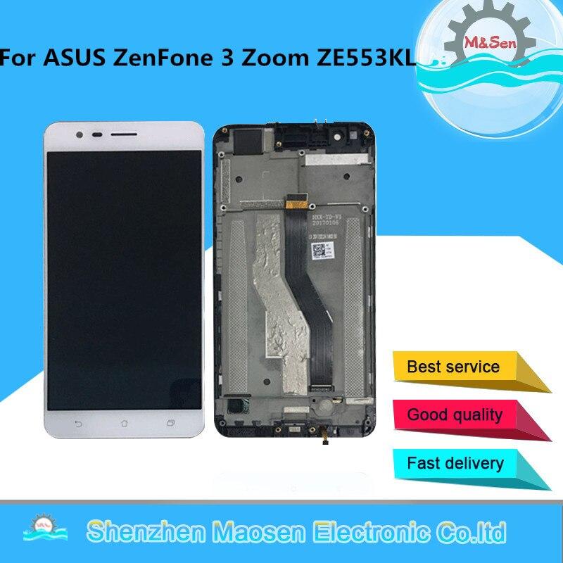 M & Sen OLED Für ASUS ZenFone 3 Zoom ZE553KL ZE553 Z01HDA LCD Screen Display + Touch Panel Digitizer Rahmen für ZE553KL ZE553 Z01HDA