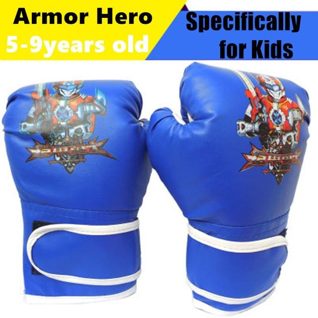 4oz 6oz Kids Boxing Gloves Junior Punch Bag Children Mma Training Youth Muay Thai Mitts Funny