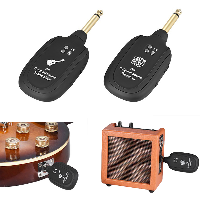 все цены на Wireless Audio Transmission Set With Receiver Transmitter For Electric Guitar Bass Violin