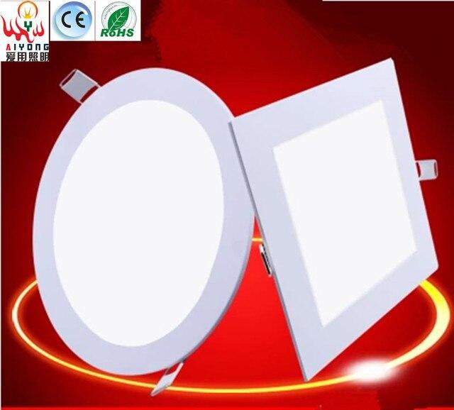 Ceiling Round LED Flat Lamp Ceiling Aluminum Buckle Square