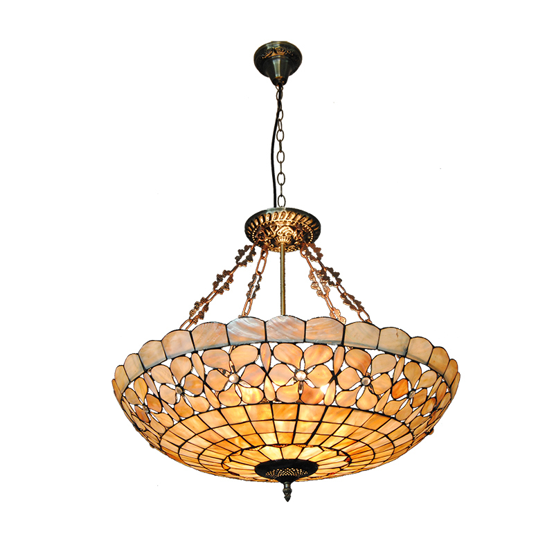 24 European Stained Glass Pendant Lights Indoor Lighting Living Room Curtain Lamp Decorative Vitrage Light Fixtures PL759 fumat stained glass ceiling lamp european church corridor magnolia etched glass indoor light fixtures for balcony front porch
