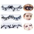 New 1 Pair Fashion Paper-cut Lashes Halloween Eyelashes Makeup Handmade