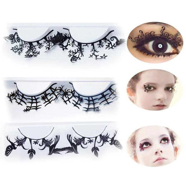 New  Pair Fashion Paper Cut Lashes Halloween Eyelashes Makeup Handmade