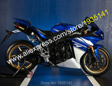 Fairings untuk Yamaha YZF R1 2009 2010 2011 YZFR1 YZF 1000 YZF-R1 Biru Putih Bodi Hadiah Kit (Injection Molding)(China)