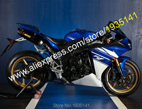 Hot Sales,Fairings For Yamaha YZF R1 2009 2010 2011 YZFR1 YZF 1000 YZF R1 Blue White Bodywork Fairing Kit (Injection molding)