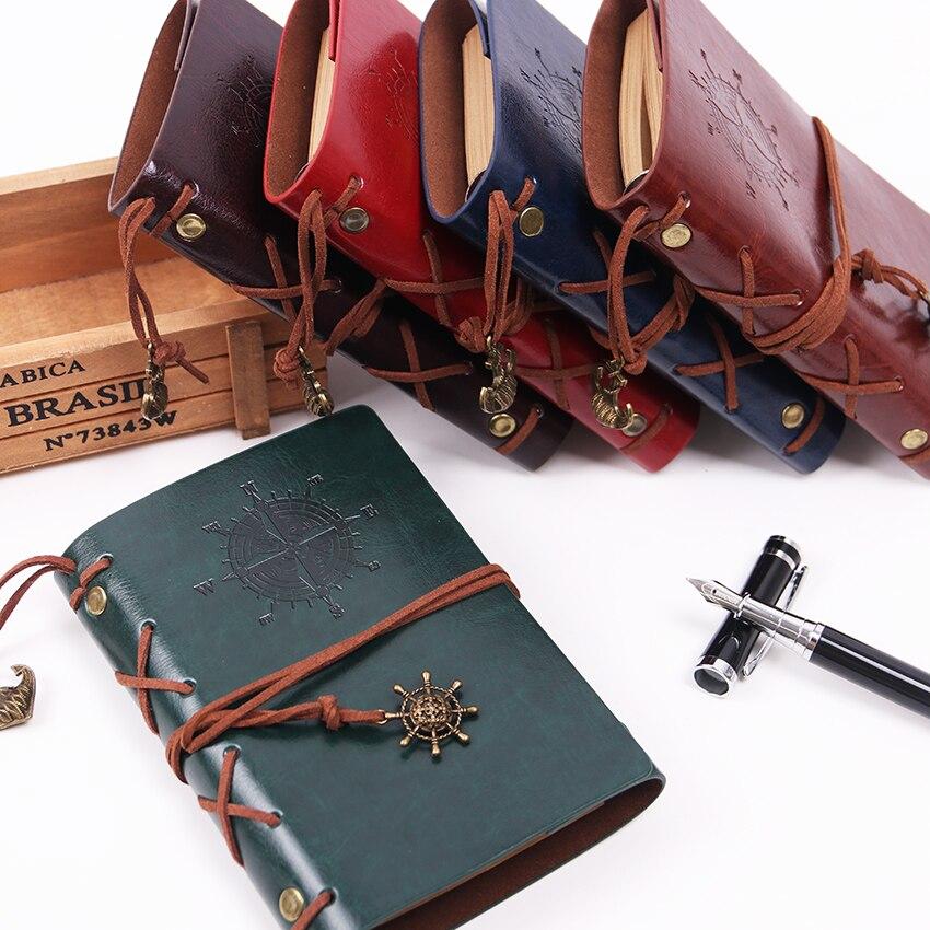 Винтажный дневник пирата, записная книжка с Обложка из искусственной кожи, книжка книжка с листом для школы, канцелярские принадлежности или путешествий|notebook agenda|books for schoolnote books for school | АлиЭкспресс