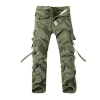 2015 New Army Green Men Cargo Pants Multi Pockets Decoration Outdoors Casual Sport Long Pants Big
