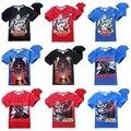 Nuevo 2016 verano de los muchachos de La Fuerza Despierta de STAR WARS camiseta niños de dibujos animados impreso algodón t camisas de los niños camisetas de deporte tops