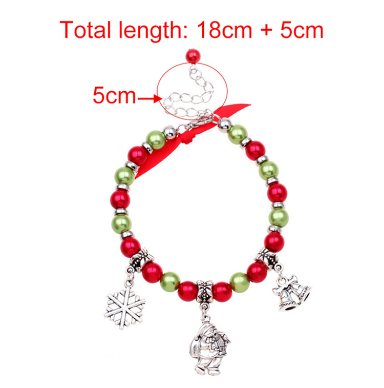 Merry Christmas Santa Claus Decor Ornaments Charm Bracelets size