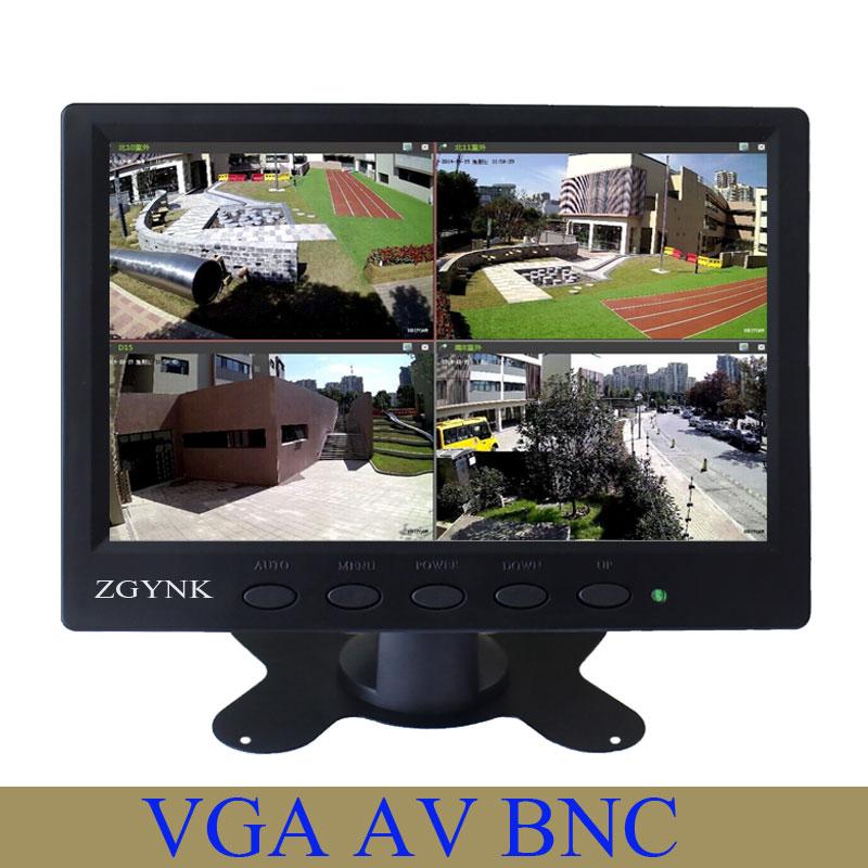 7 inch 1024 * 600 high-definition LCD VGA AV BNC input digital computer monitor screen цена