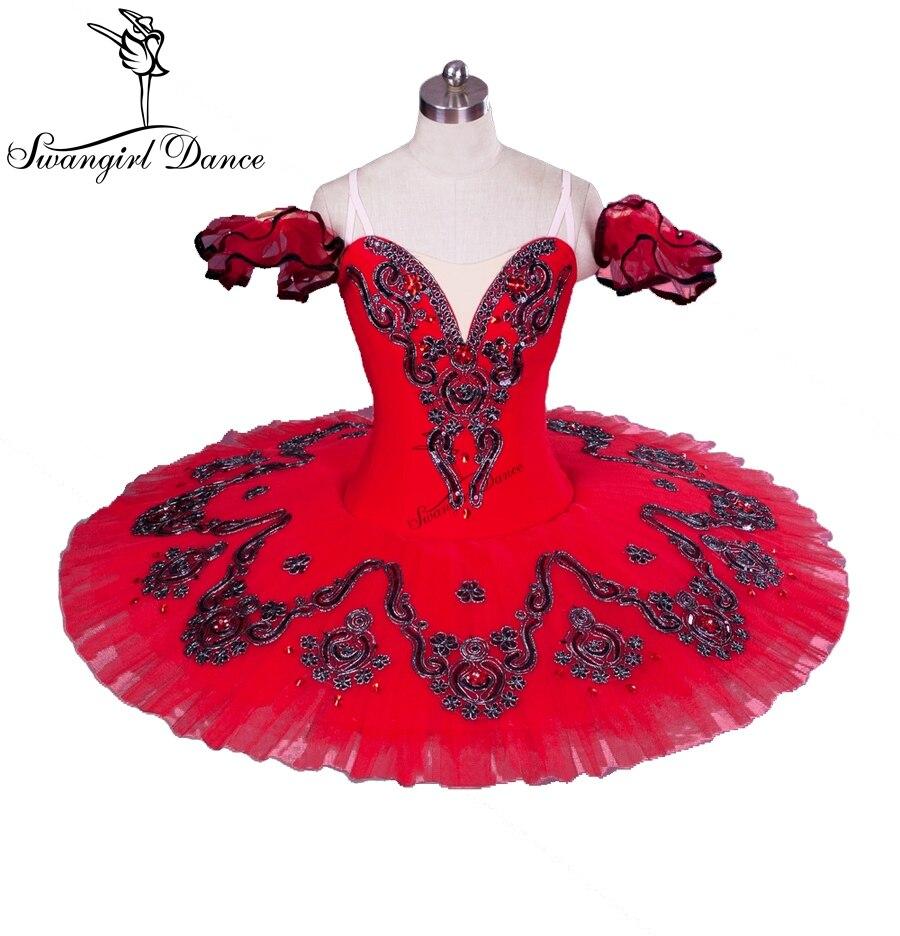 bourgogne ballett tutu blå professionell ballett tutu röd Klassisk ballett tutu för prestanda BT8992
