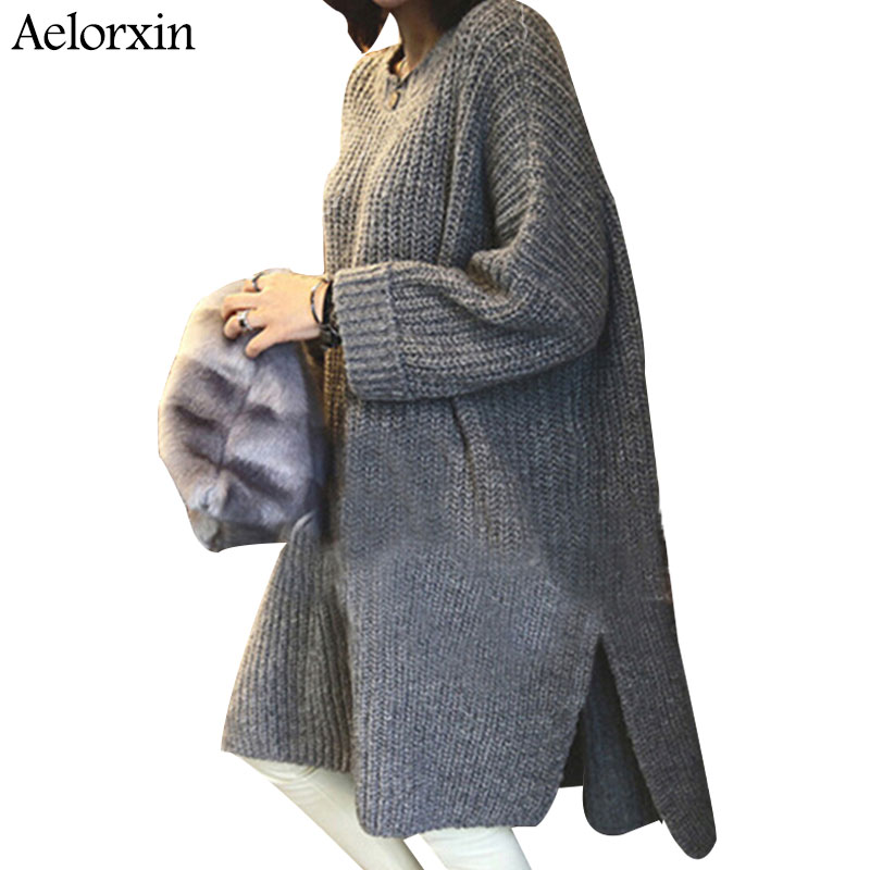 Women Sweaters And Pullovers Christmas Sweater Pullover Winter Woman Long O-neck Full Casual Coats 2016 Pullover Women Winter