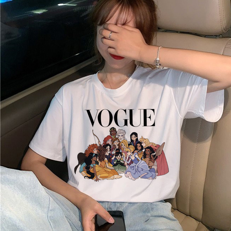 Vogue Princess   T     Shirt   Women Harajuku Ullzang Graphic   T  -  shirt   Funny Cartoon 90s Tshirt Aesthetic Korean Style Top Tees Female