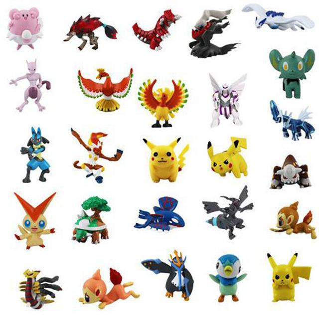 72pcs Action & Toy Figures 2-3cm Pokeball Pikachu